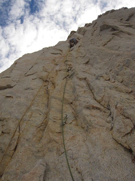 Pitch 4 feels like you are at the sport crag (11b).