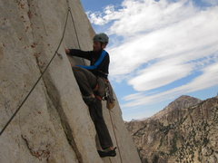 Rock Climbing Photo: Pitch 7 looks completely blank from the anchor. Fe...