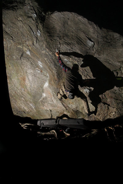 Rock Climbing Photo: Me on firestarter. Probably my favorite 3 at Rumne...