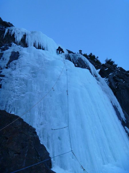 Rock Climbing Photo: Last pitch. With the sun setting its cooling down....