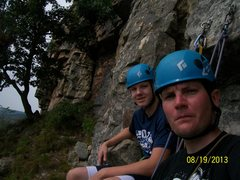 Rock Climbing Photo: chilling for lunch