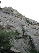 Rock Climbing Photo: The first slab.