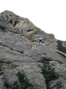 Rock Climbing Photo: The skyline ridge is the South Arete.  Tyler rappe...