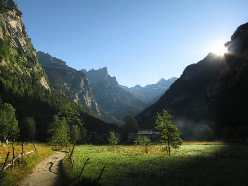 Sunrise over Val di Mello