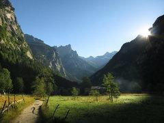 Rock Climbing Photo: Sunrise over Val di Mello