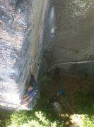 Rock Climbing Photo: Erik Thatcher hookin on the arete.