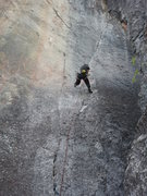 Rock Climbing Photo: Cory Hall falling on the onsite attempt on Battle ...