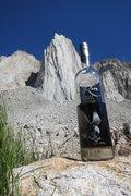 Rock Climbing Photo: The Hulk drinks bourbon, incredibly.