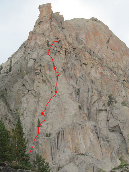 The bottom half of Left Hand Compliment (III 5.10 C1)