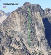 Rock Climbing Photo: topo via Blake Herrington on CascadeClimbers