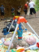 "Rock Climbing Photo: Aiden the ""Crag Baby"""