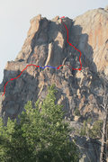 Rock Climbing Photo: The upper portion of Left Handed Compliment.  Move...
