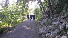 Rock Climbing Photo: Boulderers heading home after a day in the Gunks