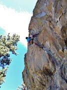 Rock Climbing Photo: Passing the crux on Raindance (5.12a), Center wall...