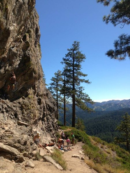 Center wall, Big Chief, Tahoe Vicinity, CA.
