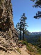 Rock Climbing Photo: Center wall, Big Chief, Tahoe Vicinity, CA.