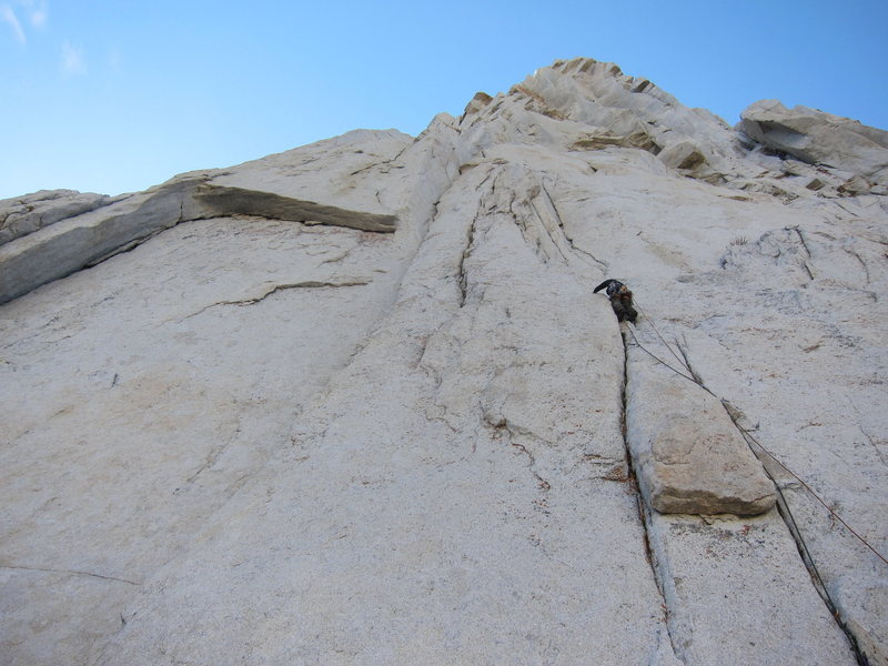 Rock Climbing Photo: Adam starting up pitch 1. You go right for Solar B...