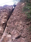 Rock Climbing Photo: Fun Crack on left side goes from finger to off wid...