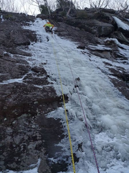 Rock Climbing Photo: Wetfoot 1st pitch