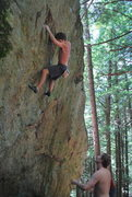 Rock Climbing Photo: Getting ready to throw to the jug