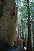 Rock Climbing Photo: The moves after the jug