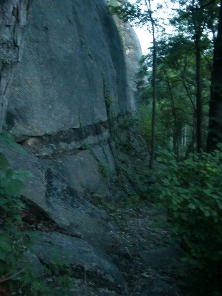 Rock Climbing Photo: Base of the Meadows Area from far left