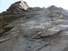 Rock Climbing Photo: The route follows the rope in the center.