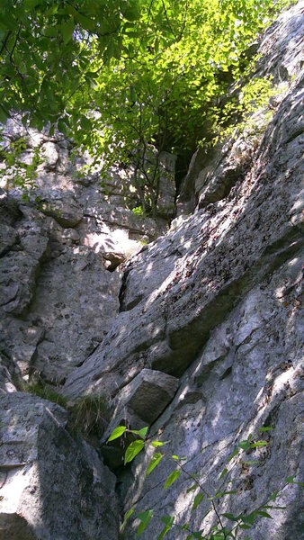 "Rock Climbing Photo: Broken rock at the corner start of P2 ""Sudori..."