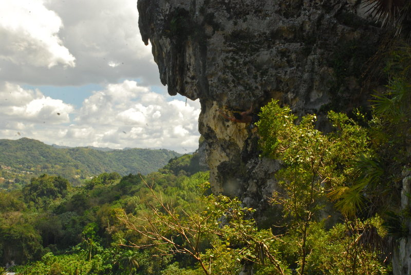 Rock Climbing Photo: My Right Foot (5.11a), Ciales, PR