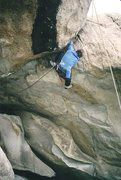 Rock Climbing Photo: Terry Ayres at the lip, mere moments before a crus...