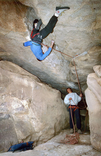 Rock Climbing Photo: Terry Ayres making the moves