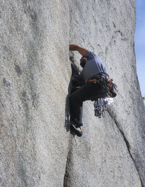 Rock Climbing Photo: Visiting Basque climber Joaquin higher up on Split...