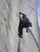 Rock Climbing Photo: Visiting Basque climber Joaquin higher up on Split...