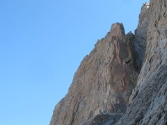 Rock Climbing Photo: The upper pitches