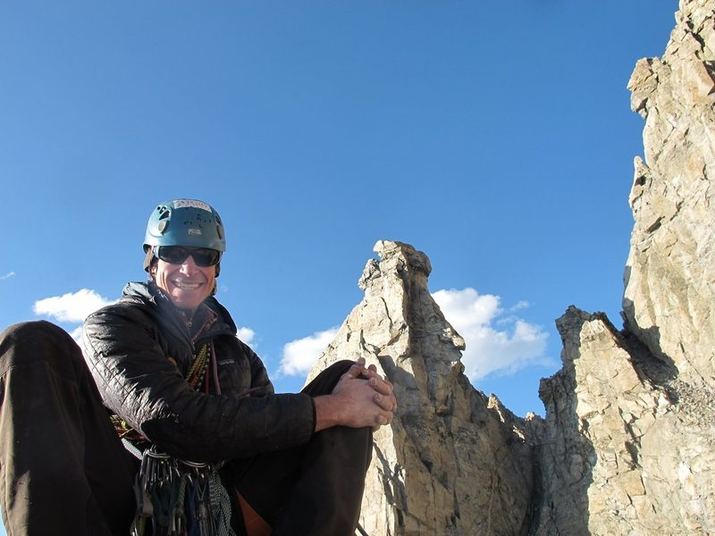 Rock Climbing Photo: Jake on the Marmot's Tooth.