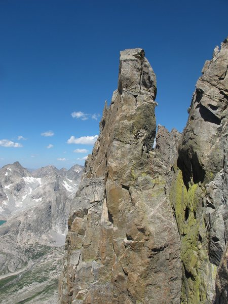 Marmot's Tooth from the West Face Spire.