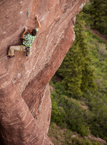 Rock Climbing Photo: Sonnie Trotter working the open project at the Red...