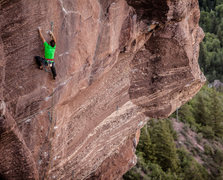 Rock Climbing Photo: Carlo Traversi working the open project at the Red...