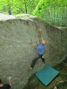 Rock Climbing Photo: Dana Seaton at the crux