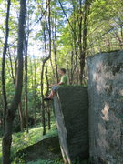 Rock Climbing Photo: Sam sitting on the first pillar