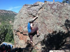 Rock Climbing Photo: A good warm-up.
