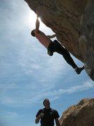Rock Climbing Photo: Psyche (V4), Joshua Tree NP