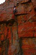 Rock Climbing Photo: leading up X