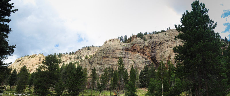"""Rock Climbing Photo: View of Meadow Dome from the """"Climbers Access..."""