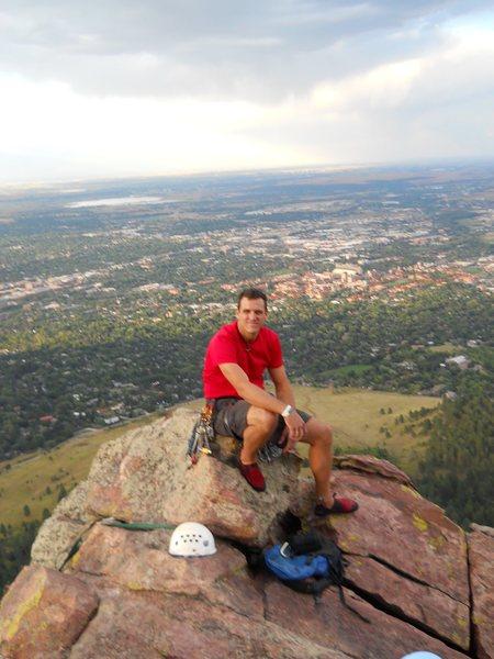Rock Climbing Photo: Top the First Flatiron in Boulder
