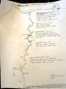 Rock Climbing Photo: topo: Red Cloud IV 5.12 - South Face Wolfshead, Ci...