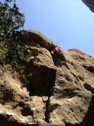 Rock Climbing Photo: Heading up the crack at Stoney Point, Simi Valley,...