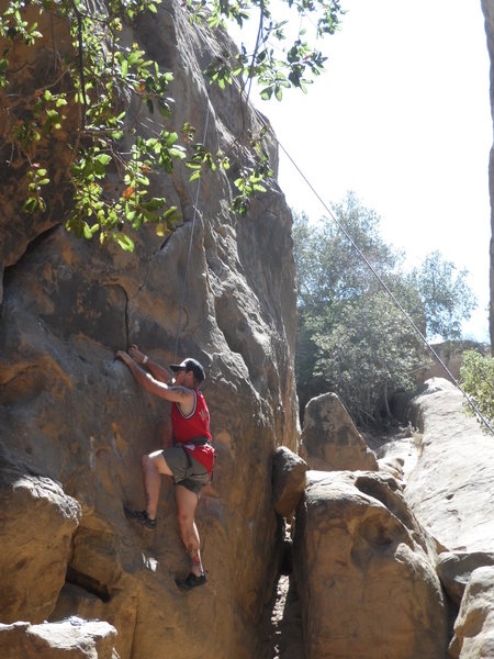 Starting out the 5.8? Face at Stoney Point, Simi Valley, CA.