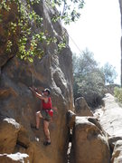 Rock Climbing Photo: Starting out the 5.8? Face at Stoney Point, Simi V...