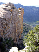 Rock Climbing Photo: Great view of the route from the approach trail
